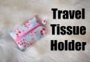 Tissue travel package holder