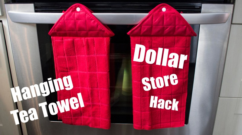 Dollar Tree Hanging Tea Towel