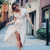 Floral Wrap Dresses | Charmed by Camille