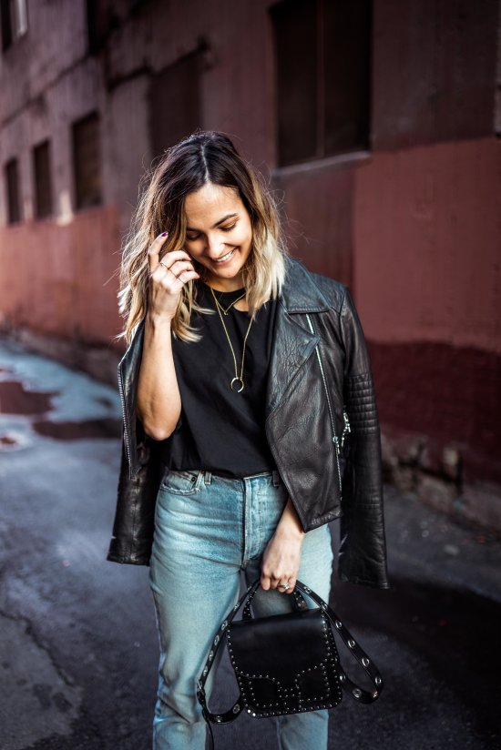 How to Style a Leather Jacket | Charmed by Camille