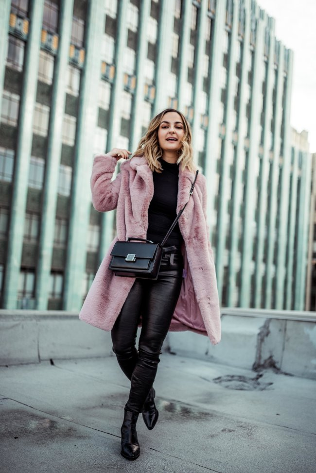 Pink Fur Coat | Charmed by Camille