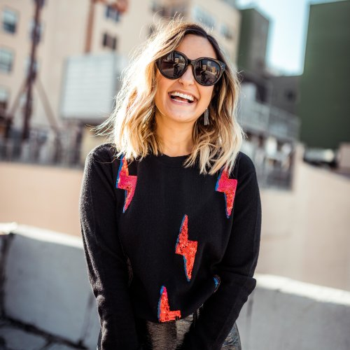 Lightning Bolt Sweater | Charmed by Camille