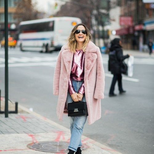Pink Sequins and Faux Fur | Charmed by Camille