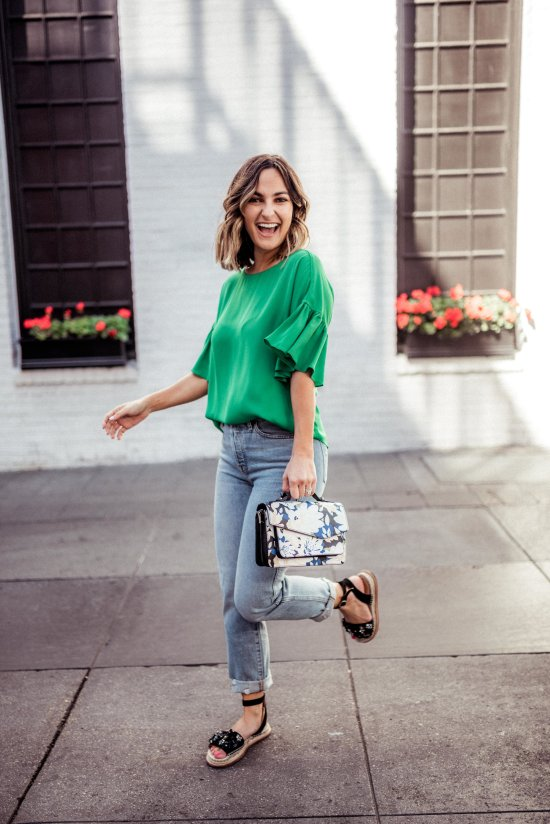 Green Clothing for Spring | Charmed by Camille