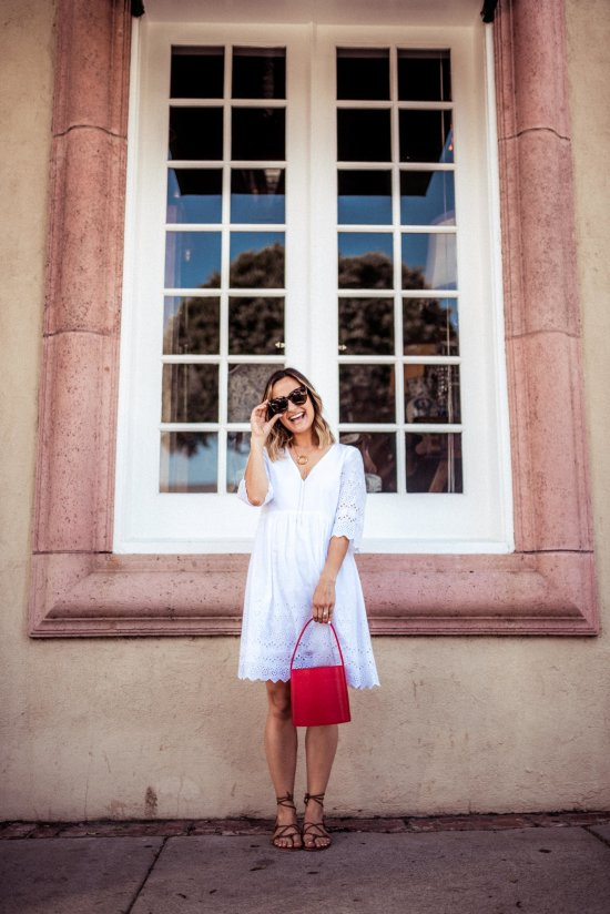 The Perfect Little White Dress for Summer   Charmed by Camille