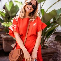 Red Mini Dress | Charmed by Camille