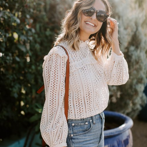Eyelet Blouse | Charmed by Camille