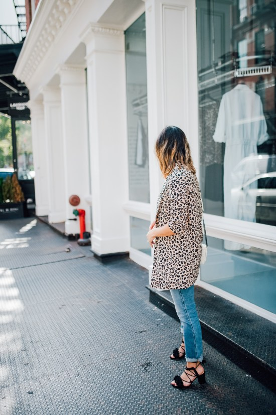 Leopard Print Blazer | Charmed by Camille