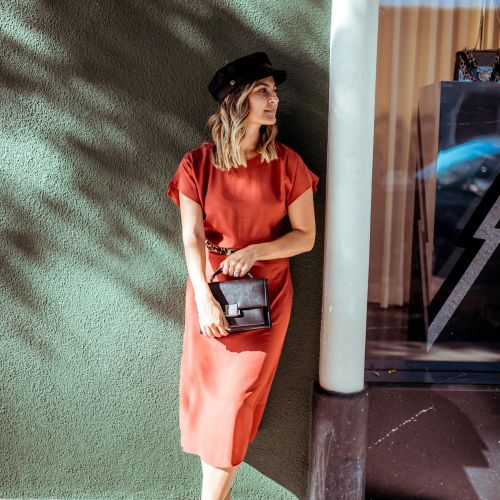 Rust Midi Dress | Charmed by Camille