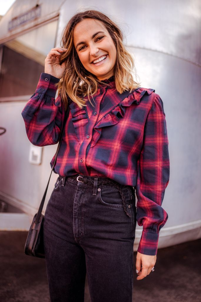 Plaid Ruffled Shirt   Charmed by Camille