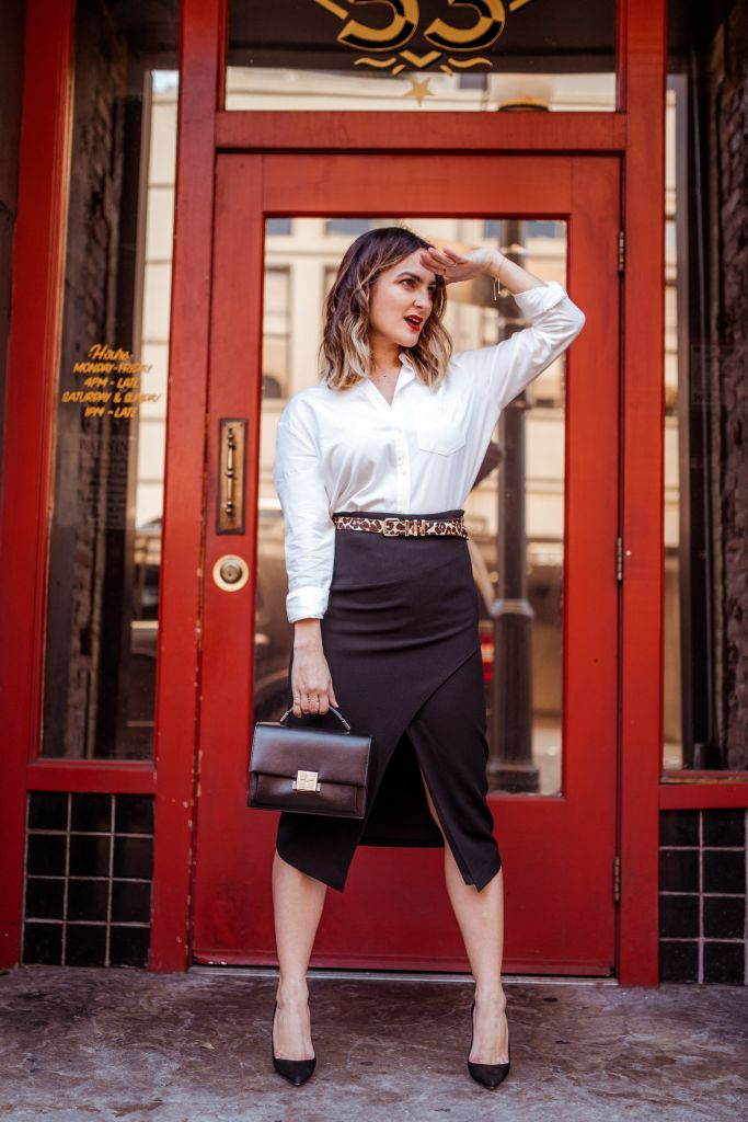 Chic Office Outfit | Charmed by Camille