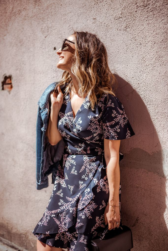Affordable Floral Dress | Charmed by Camille