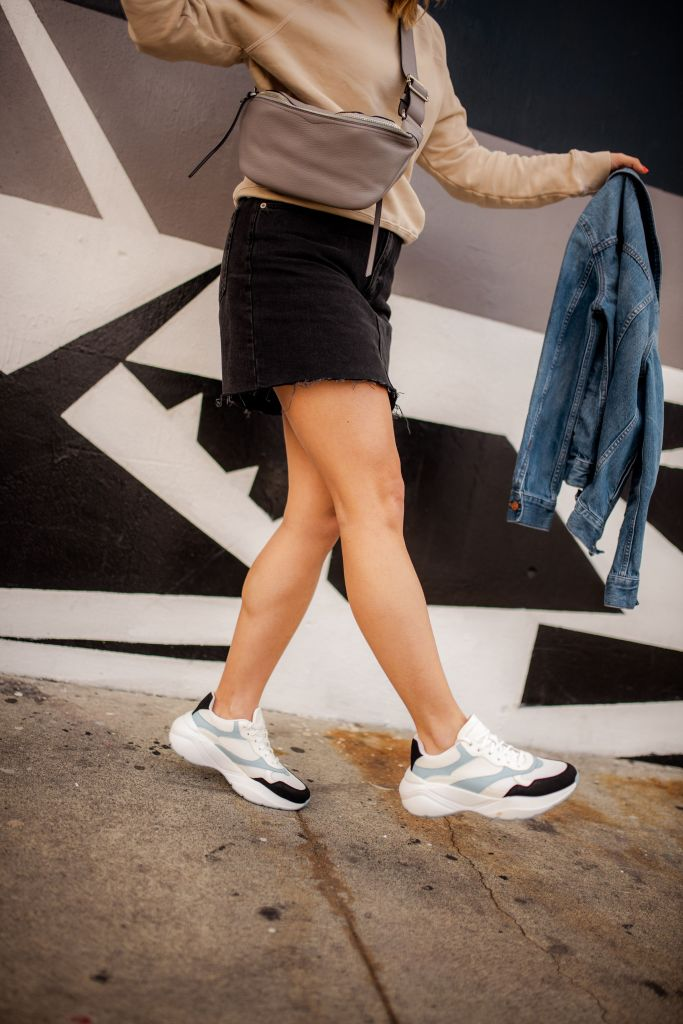 How to Wear Dad Sneakers | Charmed by Camille