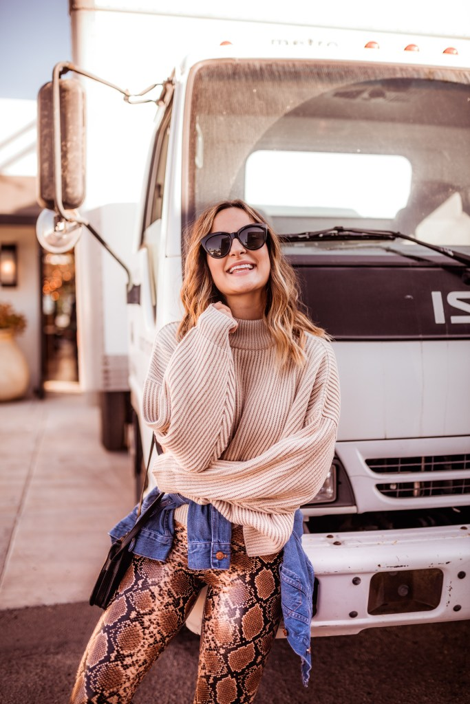Tan Sweater, Cozy Fall Outfit | Charmed by Camille