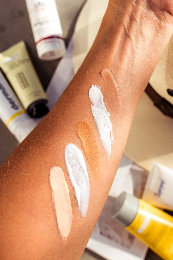 Facial Sunscreen Swatches | Charmed by Camille