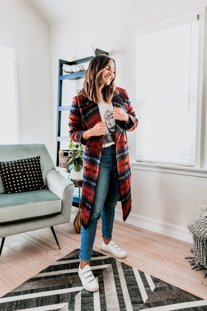 Plaid Coat Outfit Ideas | Charmed by Camille