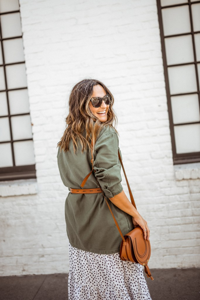 Green Jacket Outfit | Charmed by Camille