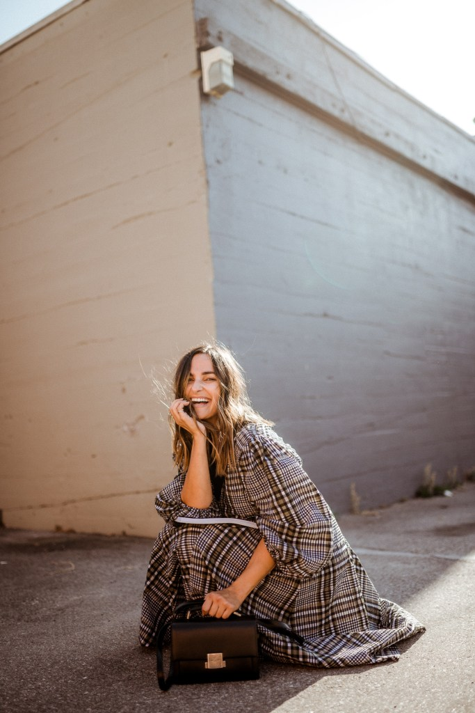 Plaid Dress Outfit Idea Fall | Charmed by Camille