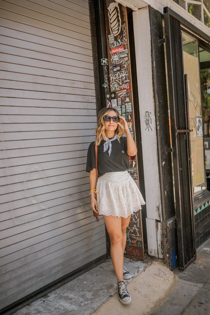 Graphic Tee Summer Outfit Idea   Charmed by Camille
