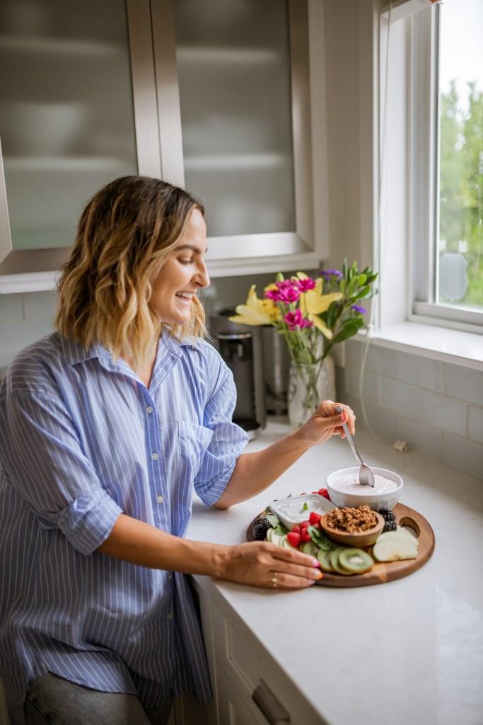 How To Make a Healthy Breakfast Charcuterie Board, Yogurt and Granola Breakfast Ideas, Weekend Breakfast Ideas   Charmed by Camille
