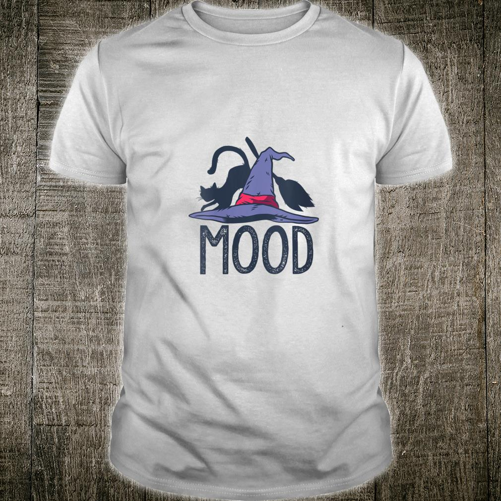 Official Mood Witch Hat Cat Broom Halloween Meme Funny Witches