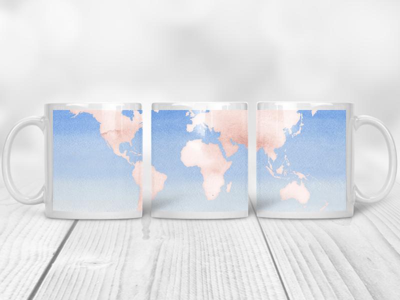 Maps Coffee Cups