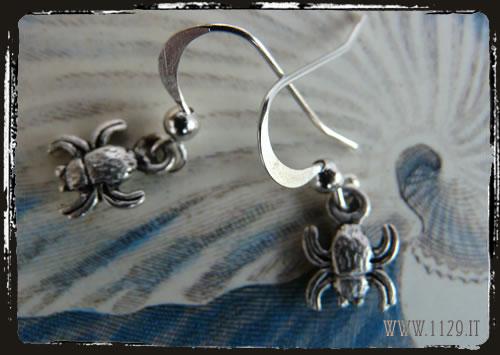 orecchini earrings charm granchio crab