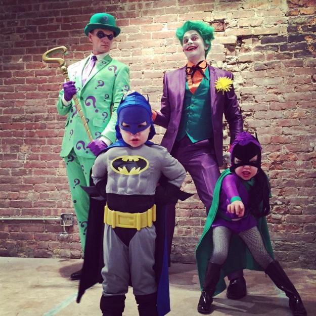 Neil Patrick Harris and family on Halloween 2014