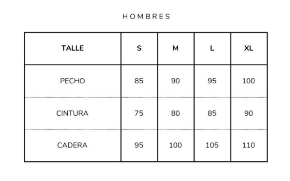 Talle Chomba Hombre