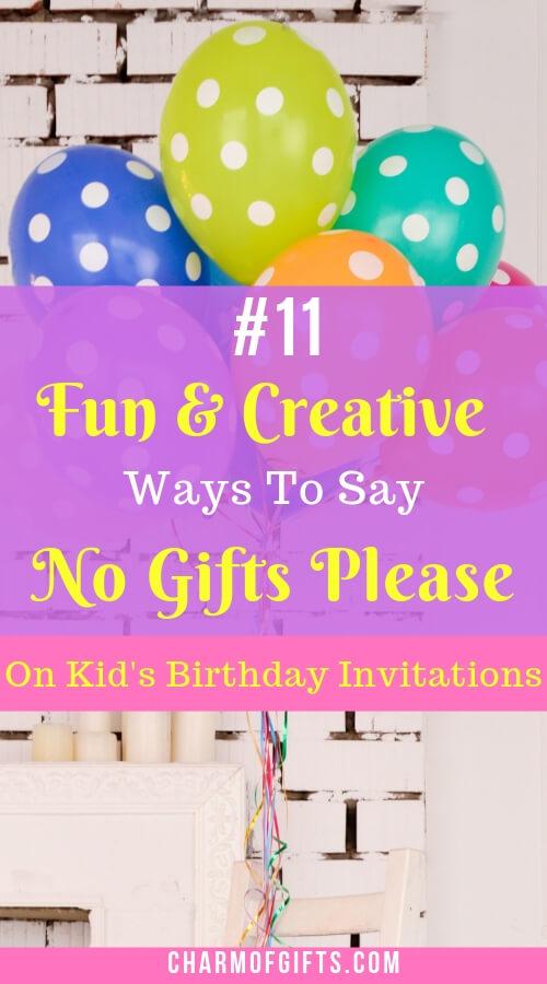 11 fun creative ways to say no gifts