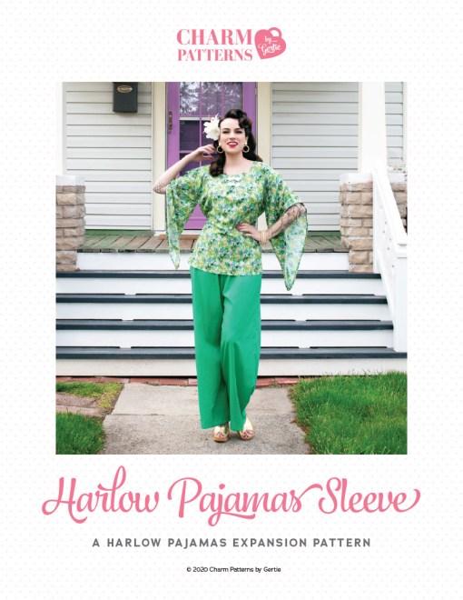 Harlow Pajamas Sleeve Expansion Patreon pattern by Gertie