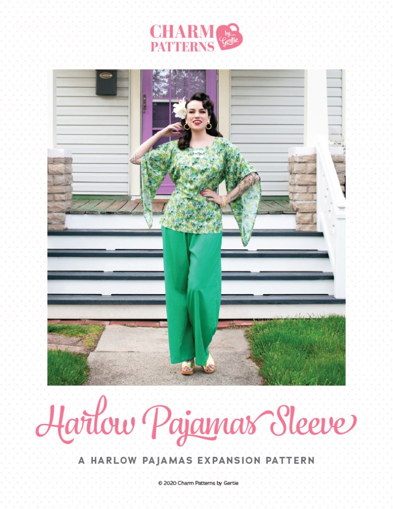 Harlow Pajamas Sleeve Expansion Patreon pattern by Gertie