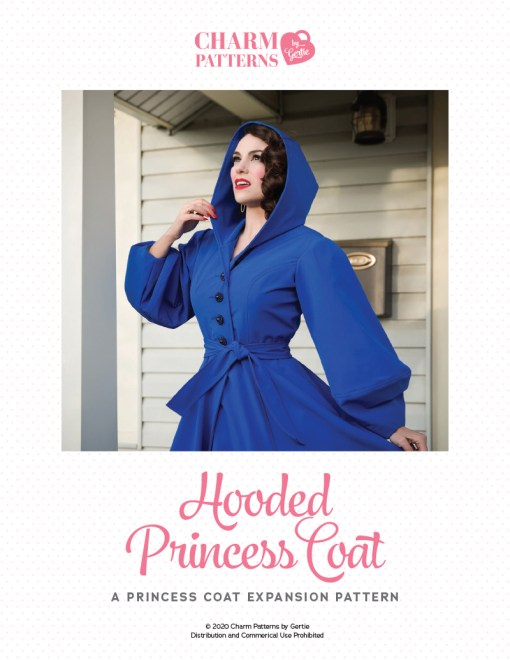 Hooded Princess Coat Expansion Patreon pattern by Gertie