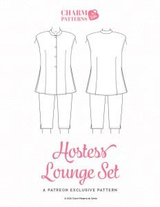 Hostess Lounge Set Patreon pattern by Gertie