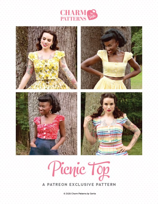 Picnic Top Patreon pattern by Gertie