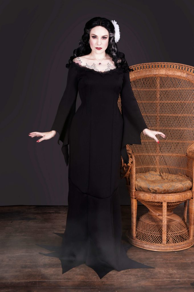 Addams Family inspired sewing pattern