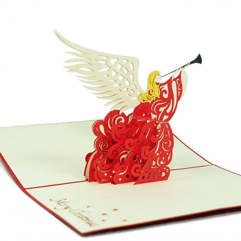 Christmas Angel Pop Up Card Custom Card Supplier Holiday