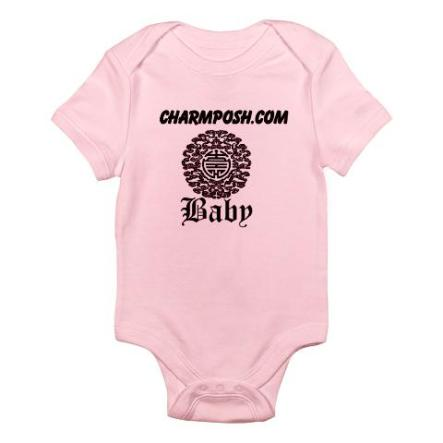 Charm Posh Couture Baby Chinese Motif Bodysuit
