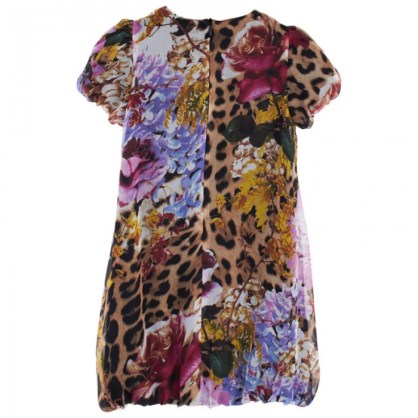 Roberto Cavalli Floral Print Puffball Dress Back