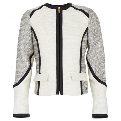 SuperTrash Cream Tweed Jacket for young girls