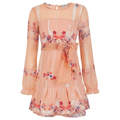 SuperTrash Peach Floral Dress for young girls