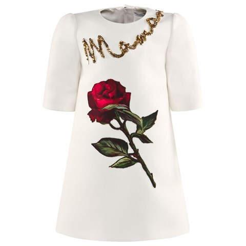 Dolce & Gabbana Junior White Rose and Mama Print CharmPosh3