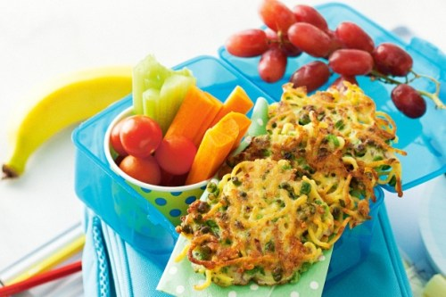Pea and Noodle Fritters CharmPosh Comfort Food Healthy Snack For Kids