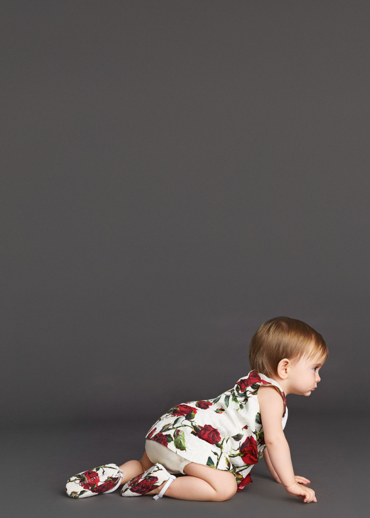 Baby Girl Clothes Dolce and Gabbana Winter 2016 Red Rose CharmPosh