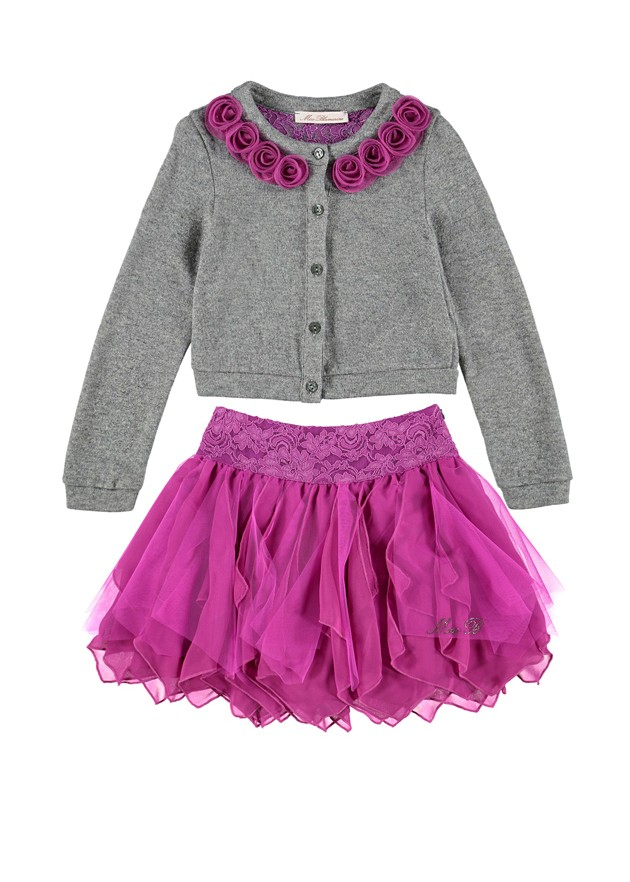 Miss Blumarine Fall Winter 2015 2016 CharmPosh Kids Clothes purple