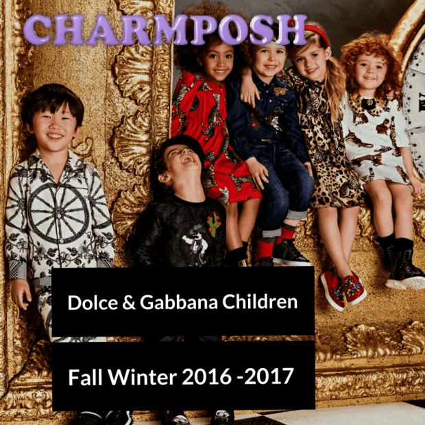 Dolce & Gabbana Children Fall Winter 2016 -2017 main front CharmPosh
