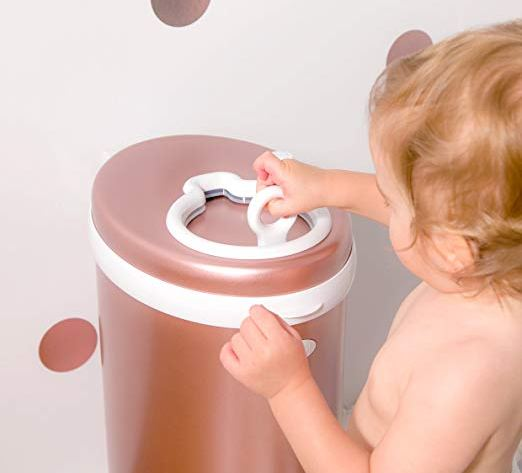 Ubbi Limited Edition Diaper Pail Rose Gold CharmPosh