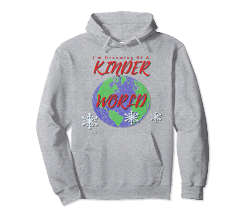 CharmPosh: I'm Dreaming Of A Kinder World Holiday Hoodie
