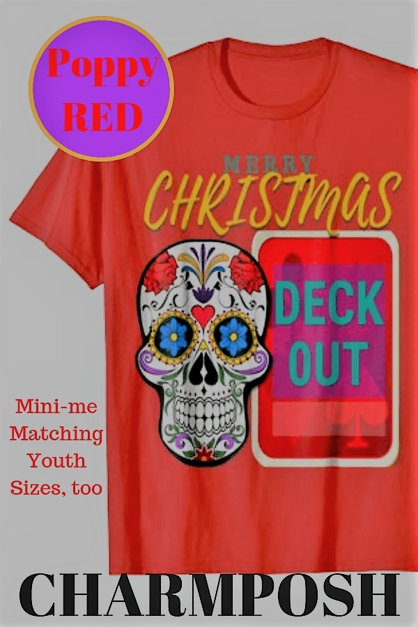 Merry Christmas Deck out Poppy Red by CharmPosh main1