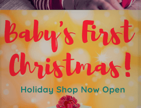 Baby's First Christmas Holiday Shop CharmPosh